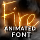 Fire Text Flaming Animated Font Pack with Tool - VideoHive Item for Sale