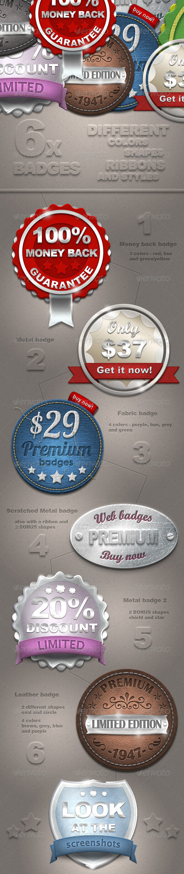 New Web Badges - Badges & Stickers Web Elements