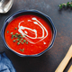 Red tomato cream soup in a bowl with spices - PhotoDune Item for Sale