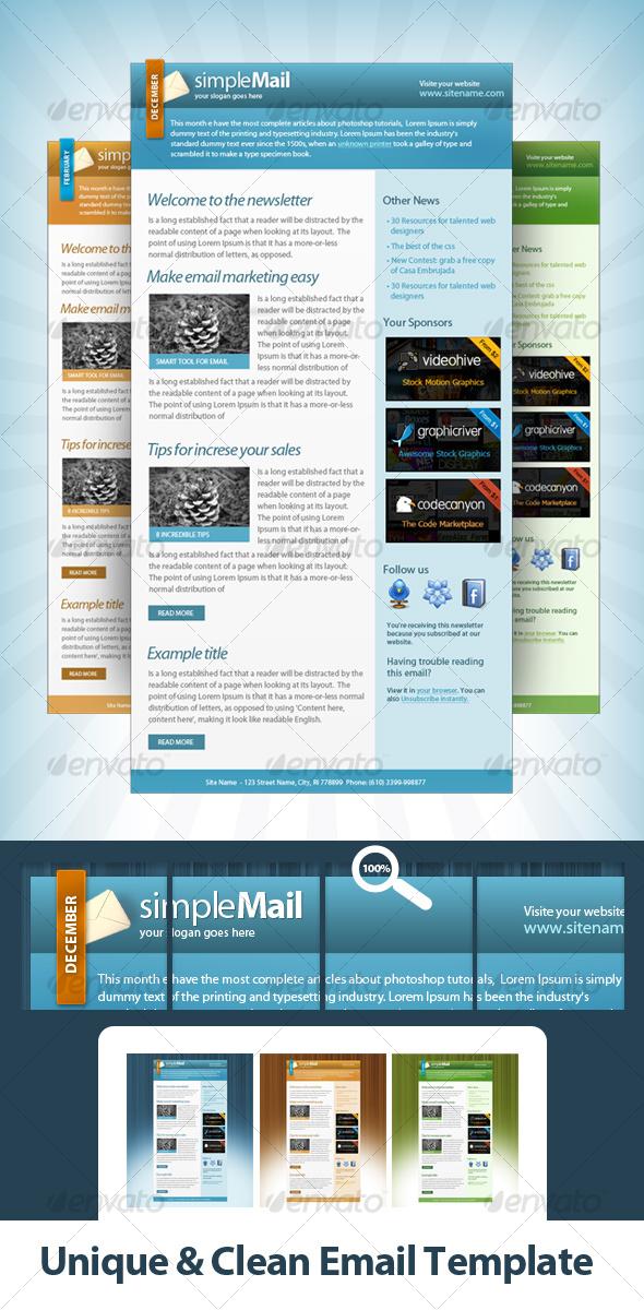 Unique & Clean Email Template - Web Elements