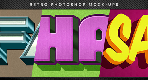 Retro Mock-ups for Photoshop