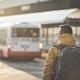 Passenger walking to bus stop - PhotoDune Item for Sale