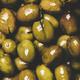 Flat-lay of fresh harvested shiny seasonal pickled green Mediterranean olives - PhotoDune Item for Sale