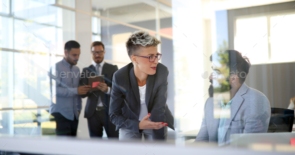 Successful company with happy workers - Stock Photo - Images