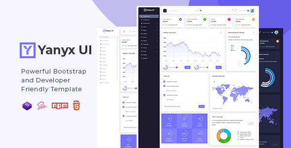 Yanyx UI - Bootstrap 4 + Laravel Starter Kit Admin Dashboard Template by VizzStudio