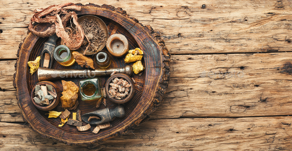 Various kinds of herbal - Stock Photo - Images