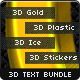 3D Text Effects Bundle - GraphicRiver Item for Sale