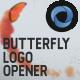 Butterfly Logo Opener  l  Elegant Logo Opener  l   Flipping Wings Logo Opener - VideoHive Item for Sale