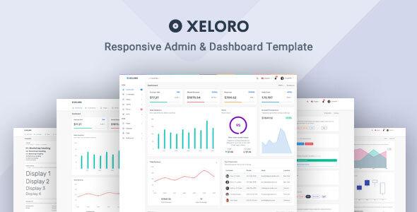 Xeloro - Admin & Dashboard Template by MyraStudio