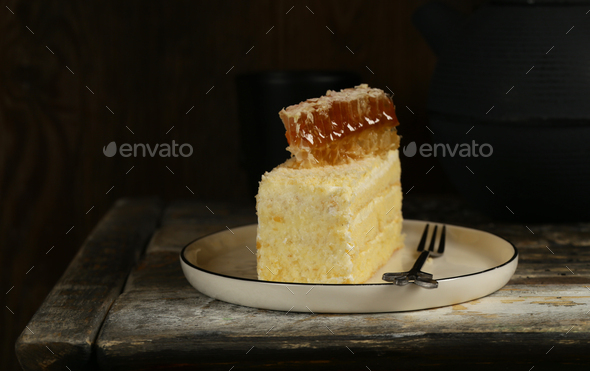 Homemade Honey Cake - Stock Photo - Images