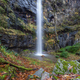 Waterfall on a Cliff in the Clearing of a Forest - PhotoDune Item for Sale