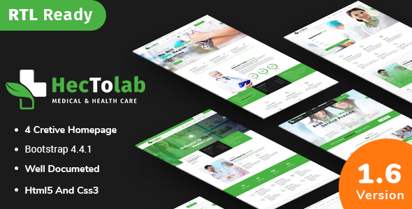 Hectolab - Medical & Health Responsive HTML5 Template by ThemeHt
