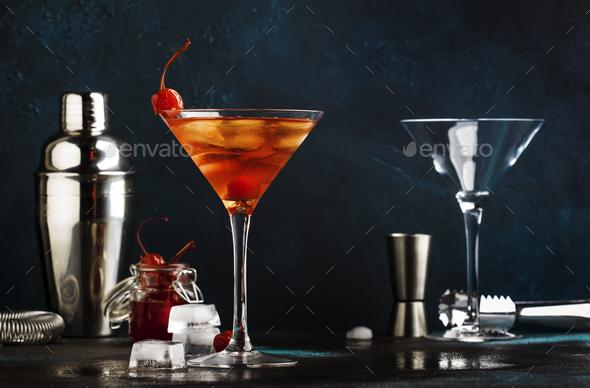 cocktail Manhattan - Stock Photo - Images