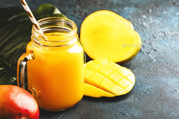 Mango juice - Stock Photo - Images