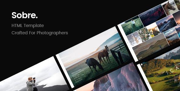 Wonderful Sobre   Minimal Photography Portfolio HTML Template