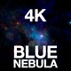 4K Flying Into Blue Nebula - VideoHive Item for Sale