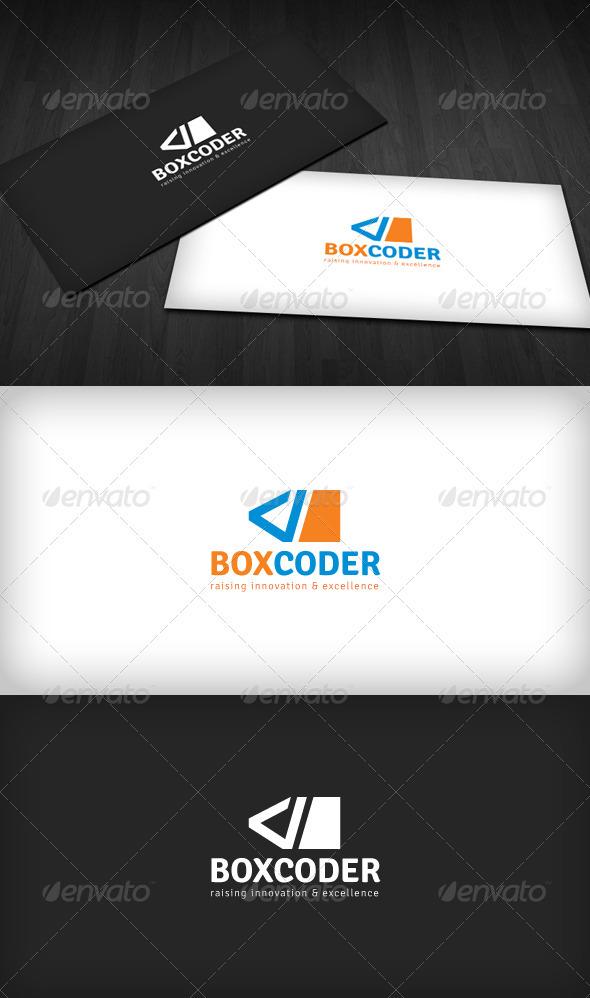 Box Coder Logo - Vector Abstract