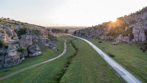 Dobrogea Gorges (Cheile Dobrogei) Romania - Stock Photo - Images