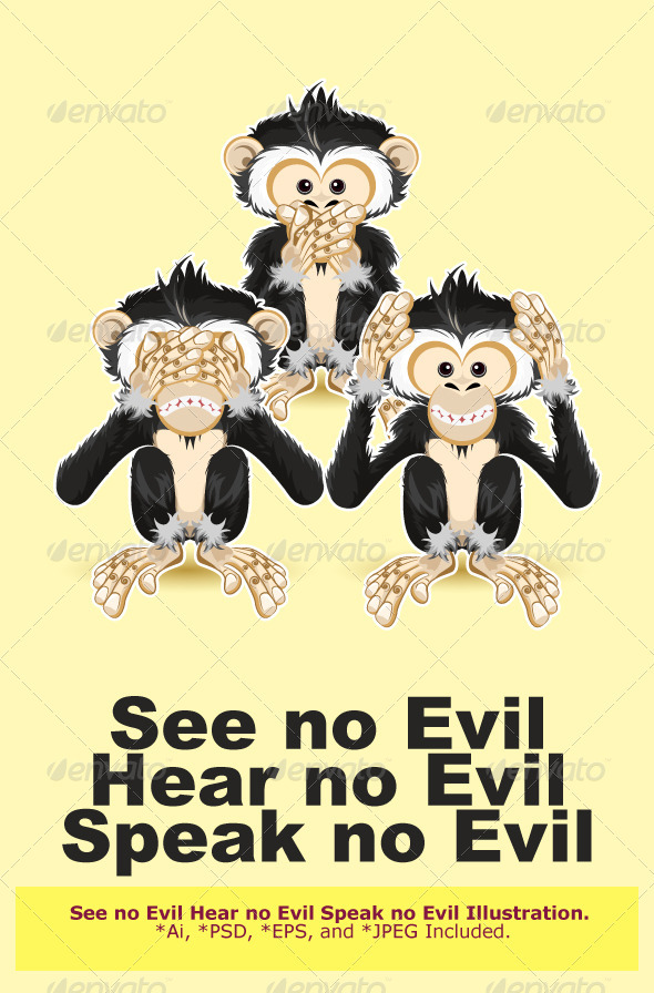 Speak, Hear, See no Evil - Conceptual Vectors