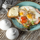 Fried eggs with pork ham. - PhotoDune Item for Sale