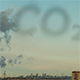 Factory Chimney Smokes on the Industrial Background and CO2 Sign in Smoke Cloud - VideoHive Item for Sale