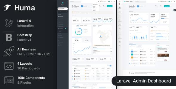 Huma - Laravel Admin Dashboard Template by FrontendMatter