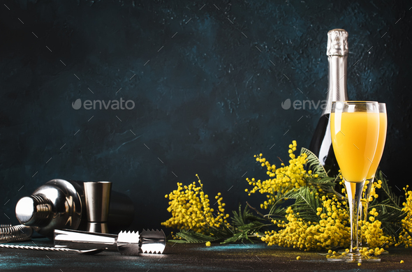 cocktail mimosa - Stock Photo - Images