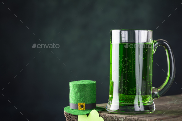 St. Patrick's day green beer - Stock Photo - Images
