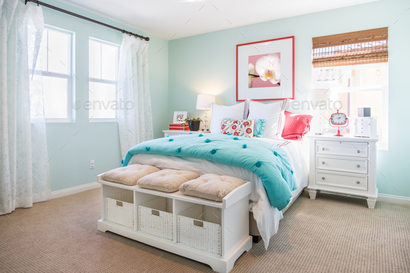 Interior of A Beautifully Decorated Bedroom - Stock Photo - Images