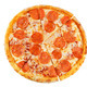 Pizza with pepperoni, tomato sauce and cheese isolated - PhotoDune Item for Sale