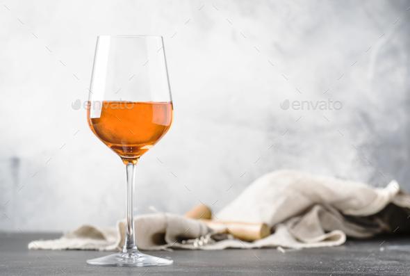 Orange wine - Stock Photo - Images
