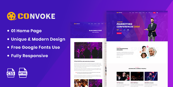 Beautiful Convoke - Event & Conference HTML5 Template