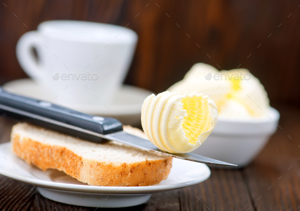 brean and butter - Stock Photo - Images