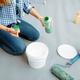Female house painter mixes paints - PhotoDune Item for Sale