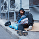 Male bearded beggar lies on city street - PhotoDune Item for Sale