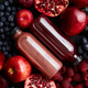 Mix of fresh red and black fruits. With botteled fresh juices - PhotoDune Item for Sale