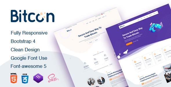 Bitcon - Bitcoin HTML5 Template by TechyDevs