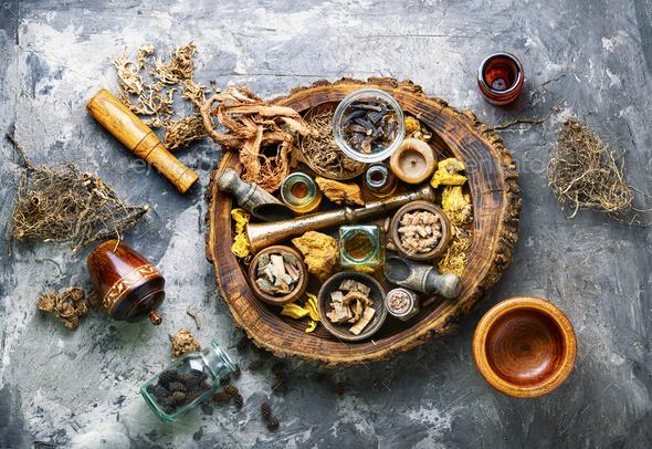 Alternative medicine herbal - Stock Photo - Images