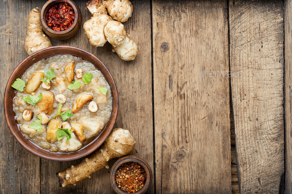 Vegetarian cream soup - Stock Photo - Images
