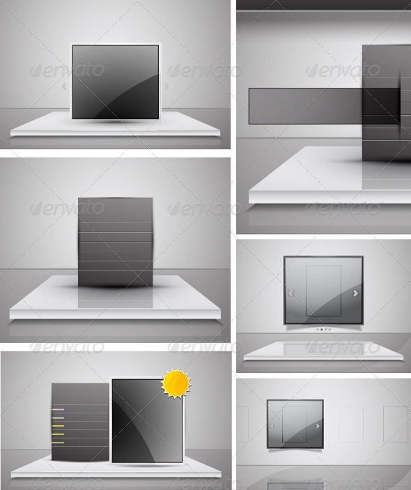 Vector Glossy Promotion Pack - Backgrounds Business