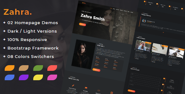 Zahra - Responsive Personal Portfolio Template by HasnaaDesign
