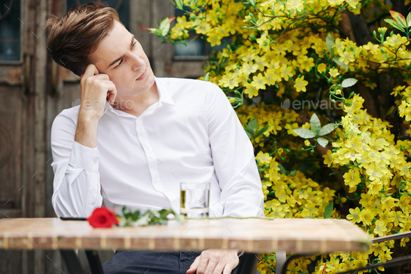 Romantic Man Waiting For Girlfriend - Stock Photo - Images