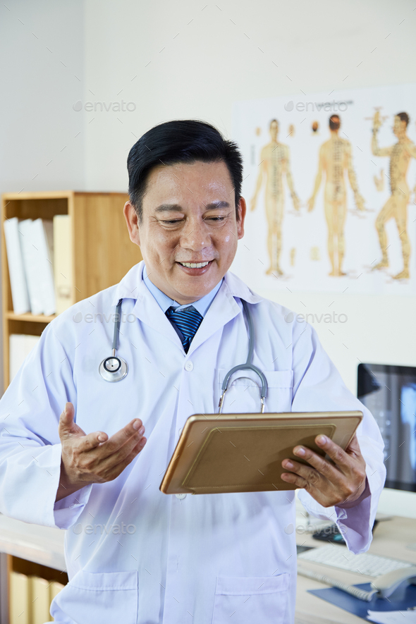 Medical Worker Using Video Call - Stock Photo - Images
