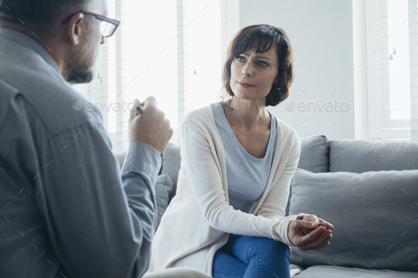 Psychologist appointment in office - Stock Photo - Images