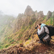 Santo Antao Island, Cape Verde. Hiking outdoor activity. Male traveler photographing mountain peaks - PhotoDune Item for Sale
