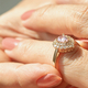Close-up view of a diamond ring and woman hand - PhotoDune Item for Sale