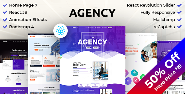 Agency : Creative Business Multipurpose ReactJS Template