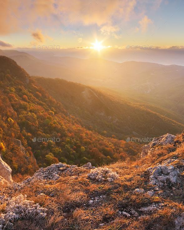 Mountain panorama landscape - Stock Photo - Images