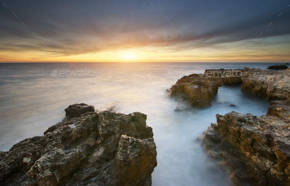 Beautiful seascape nature. - Stock Photo - Images