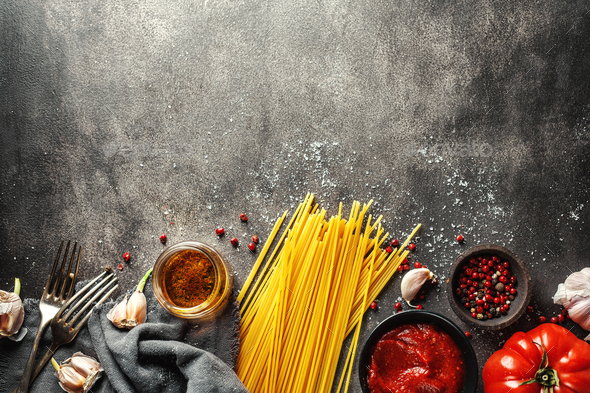 Ingredients for cooking italian kitchen - Stock Photo - Images